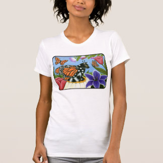 Camiseta de hadas del arte de la fantasía del gato