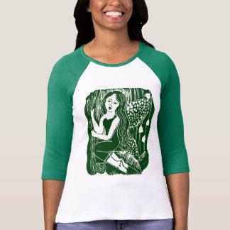Camiseta de hadas del raglán de las señoras del playeras