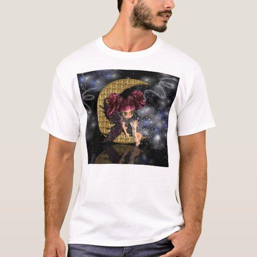 camiseta de hadas gótica linda de hadas de la luna