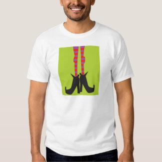 Camiseta de Halloween con un diseño de los pies de Poleras