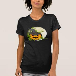 Camiseta de Halloween de la calabaza del escote Camisas