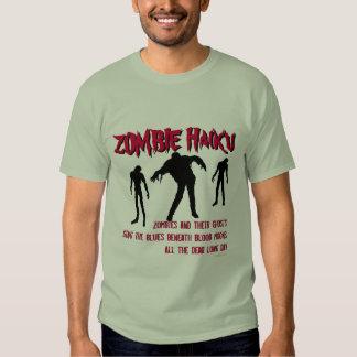 Camiseta de Halloween del Haiku del zombi Poleras