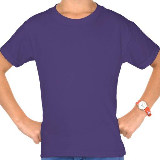 Camiseta de Hanes Tagless de los chicas púrpuras l Playeras