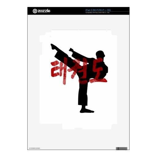camiseta de Hanjan del kanji del Taekwondo Gunge iPad 2 Skin