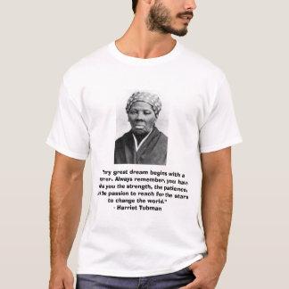 """Camiseta de Harriet Tubman con cita """"ideal"""""""