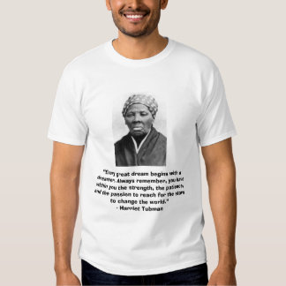 "Camiseta de Harriet Tubman con cita ""ideal"" Remeras"