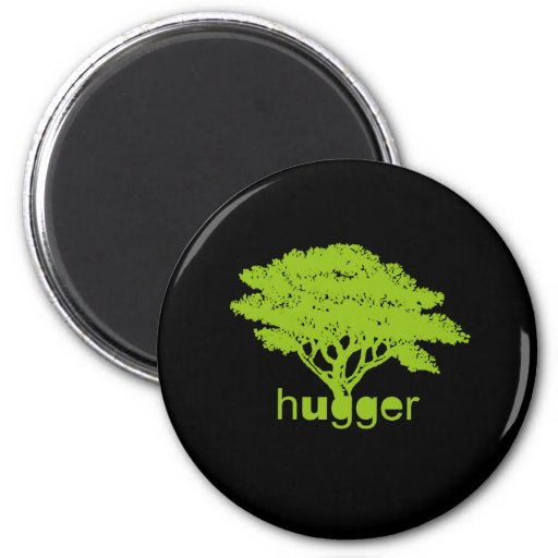 Camiseta de Hugger del árbol Imán Redondo 5 Cm
