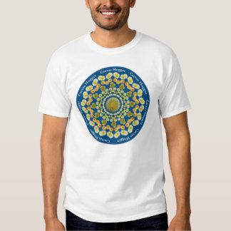 Camiseta de Hugger del cactus con la mandala 2 del Playeras