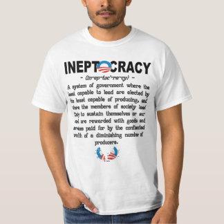 Camiseta de Ineptocracy de la administración de Ob Playeras