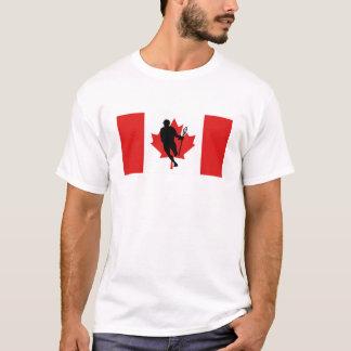 Camiseta de IRockCanada de la bandera de LaCrosse