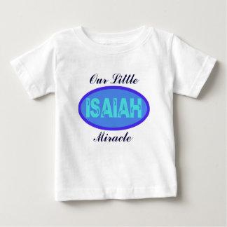 Camiseta de Isaías del bebé del milagro Remeras