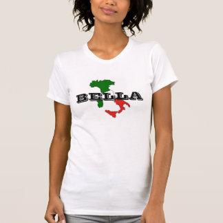 Camiseta de Italia Bella Mujer, blanca Polera