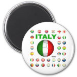 Camiseta de Italia Imanes De Nevera