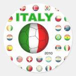 Camiseta de Italia Pegatina Redonda