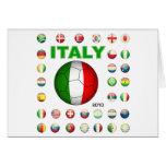 Camiseta de Italia Tarjetón