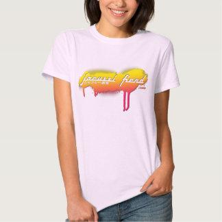 Camiseta de JapanTag del rosa del demonio del Poleras