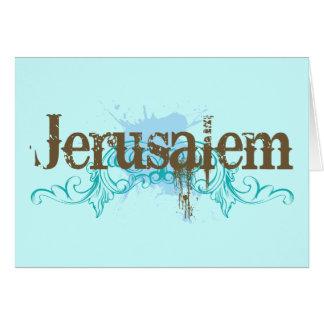 Camiseta de Jerusalén Israel Tarjeta De Felicitación