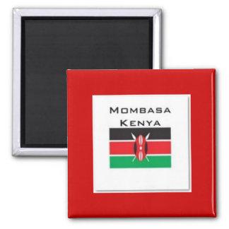 Camiseta de Kenia (modificada para requisitos part Imán Cuadrado