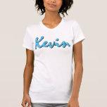 Camiseta de Kevin (azul en blanco) para mujer
