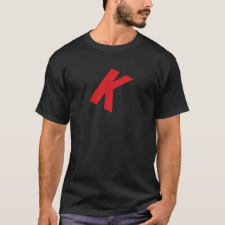 Camiseta de Khaos Digital: Rojo grande K
