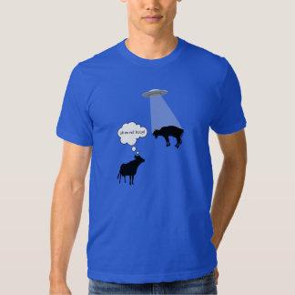 Camiseta de la abducción de la vaca del UFO Remera