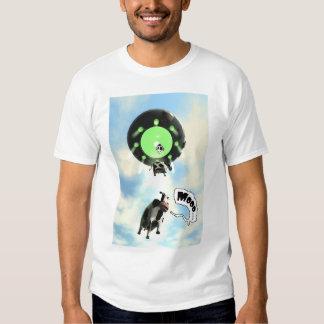 Camiseta de la abducción de la vaca polera