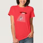 Camiseta de la abducción del UFO del unicornio de Playera