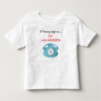 Camiseta de la abuela de la llamada (azul) playeras