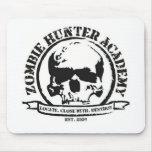 Camiseta de la academia del cazador del zombi tapetes de raton