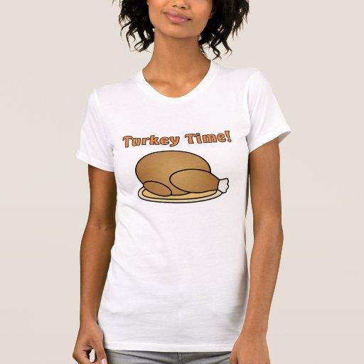 Camiseta de la acción de gracias del tiempo de Tur