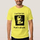 Camiseta de la actitud de Beethoven Playera