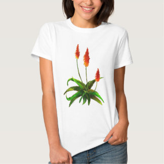 Camiseta de la acuarela del áloe playera