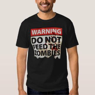 """""""Camiseta de la advertencia del zombi"""" Remera"""