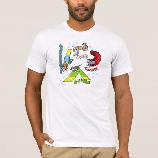 Camiseta de la agilidad del perro del dibujo