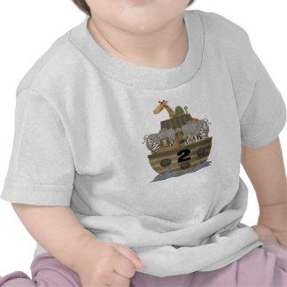 Camiseta de la arca de dos 2 de los años Noah del
