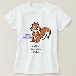 camiseta de la ardilla de la Caff-jábega