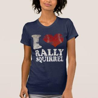 Camiseta de la ardilla de la reunión del béisbol polera