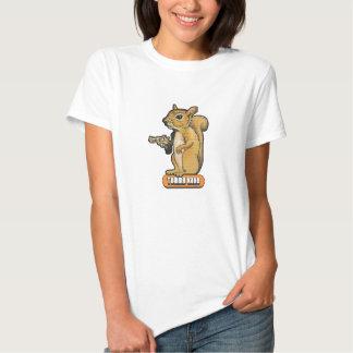 Camiseta de la ardilla de las señoras playeras