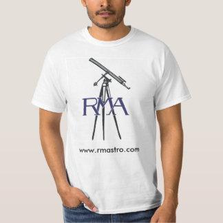 Camiseta de la astronomía del logotipo de RMA Playera