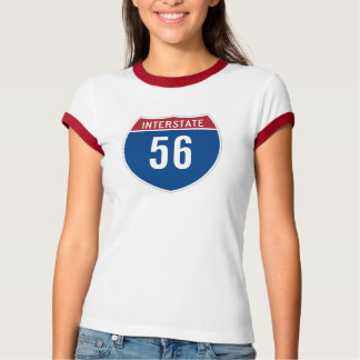 Camiseta de la autopista 56 polera