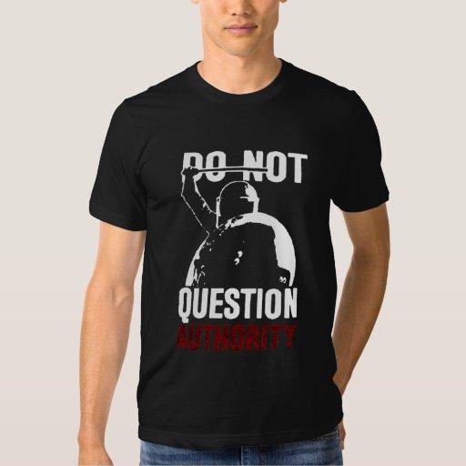 Camiseta de la autoridad de la pregunta polera