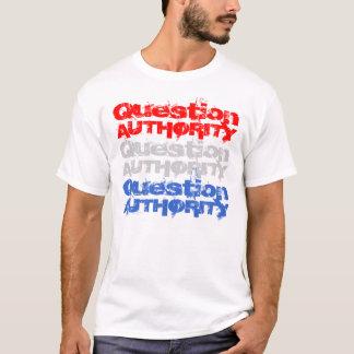 Camiseta de la autoridad V de la pregunta