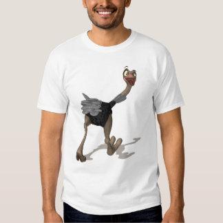 Camiseta de la avestruz - camiseta de la pintura playera