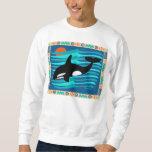 Camiseta de la ballena de la orca sudadera