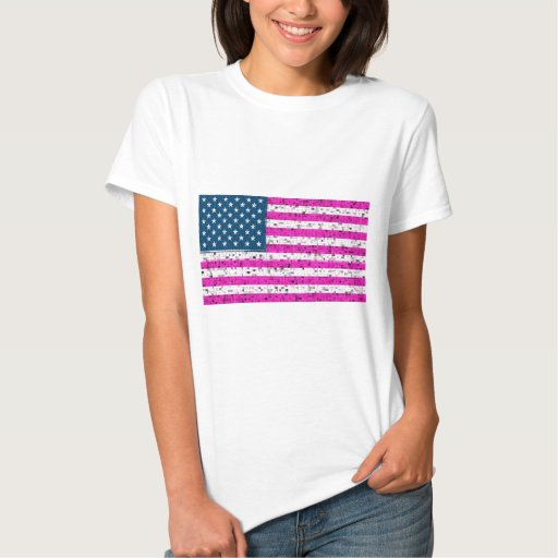 Camiseta de la bandera americana de los E.E.U.U.