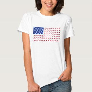 Camiseta de la bandera americana de Vizsla de las Remeras