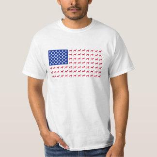 Camiseta de la bandera americana de Vizsla de los Camisas