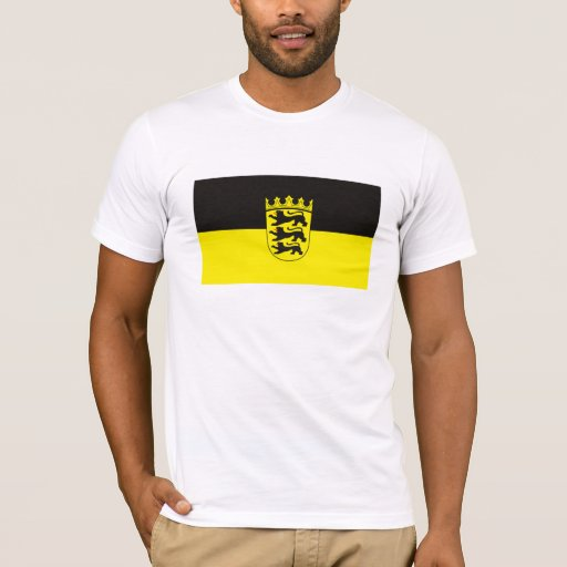 Camiseta de la bandera de Baden Wurtemberg