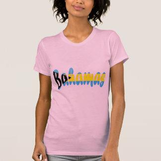 Camiseta de la bandera de Bahamas