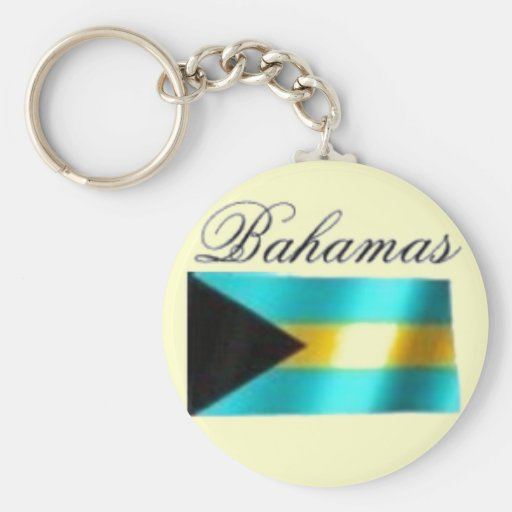 Camiseta de la bandera de Bahamas y etc Llavero Personalizado